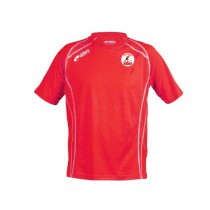 Maillot CUP manches courtes rouge + Logo Club